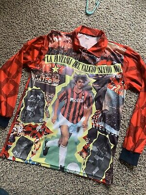 AC MILAN Retro Football Jersey Milano Soccer Shirt LENTINI The Future 90's M