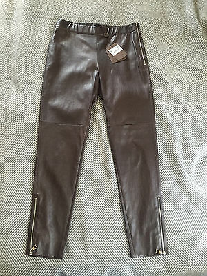 Louis Vuitton LV Women's Brown Leather Leggings Pants - Size 42 - Italy - $3,800