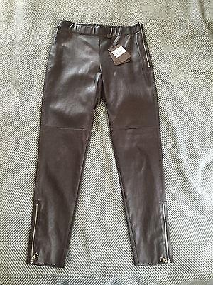 Louis Vuitton LV Women's Brown Leather Leggings Pants - Size 42 - Italy - $3,800