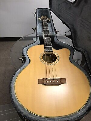 CORT SJB Acoustic/Electric Bass Natural W/ Hard Case