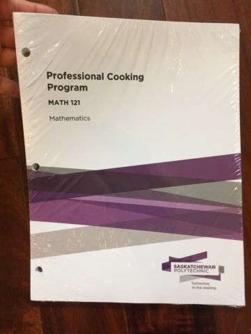 Professional cooking Math 121 textbook