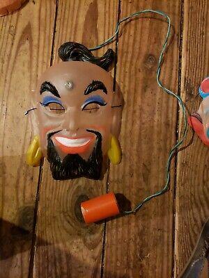 Vintage usa Genie Plastic Halloween Mask light ben cooper collegeville topstone