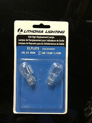 ELPL078 Lithonia Lighting Exit Sign Replacement Lamps #909 Bulbs ()