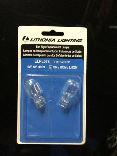 ELPL078 Lithonia Lighting Exit Sign Replacement Lamps #909 B