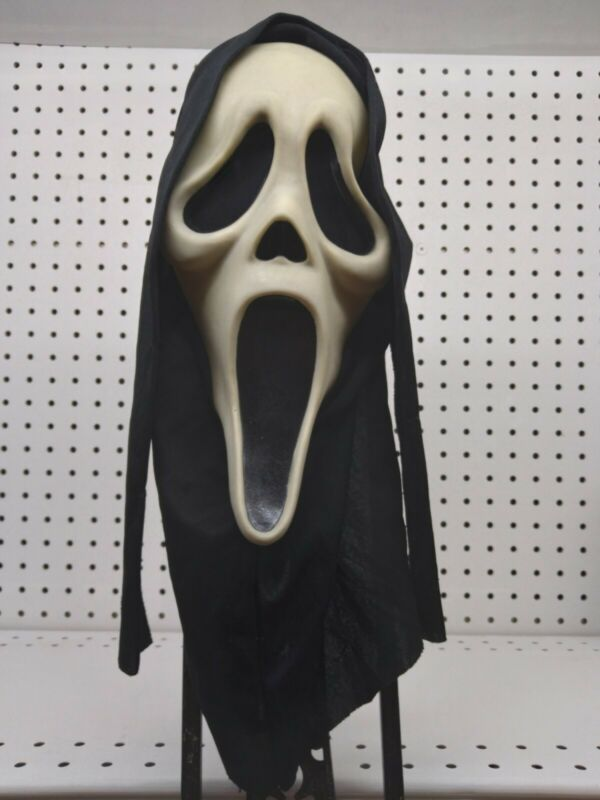 Vintage Original Scream Glow Ghost Face Mask Easter Unlimited .