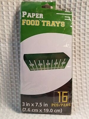 BRAND NEW~FOOTBALL FIELD DESIGN~PAPER FOOD TRAYS~16 PCS~3in x 7.5in (Football Field Paper)