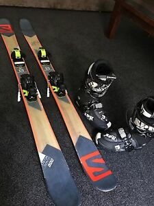 Skis, Boots, Bindings, all 2016 Salomon models. Sandringham Bayside Area Preview