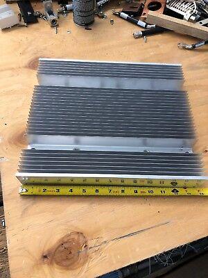 Large Aluminum Heat Sink-- Measure 13-34 X 11-34 X 2-14. Op1 Lot Of 3