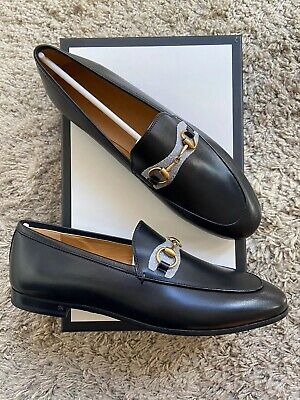 New! Gucci Jordaan Leather Loafer Size 37,5