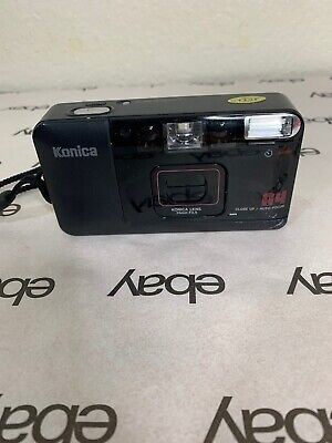 Konica A4 35mm f/3.5 Close Up Point and Shoot Film Camera Tested Great Shape
