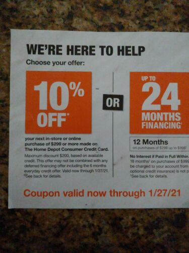 Home Depot Coupon 10 Off Online Or Instore - $20.00