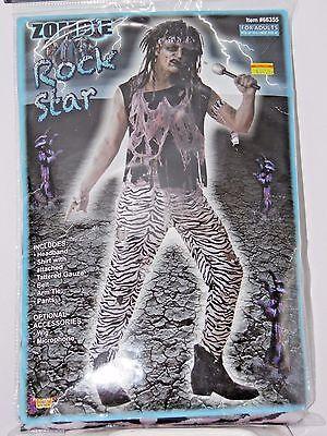 Size 42 Men Zombie Rock Star 70's Sexy Costume Cosplay Halloween Dance](Rock Star Halloween Mask)