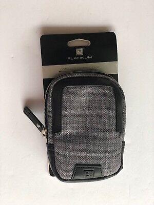 Black Platinum Camera Case - Platinum - Metropolitan Compact Camera Case - Gray/Black Pocket for Accessories