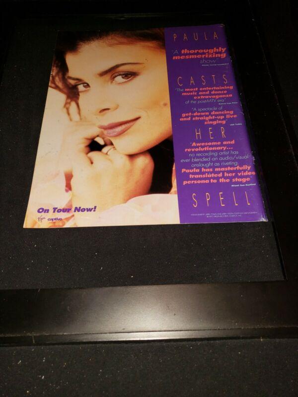 Paula Abdul Spellbound Rare Original Radio Promo Poster Ad Framed!