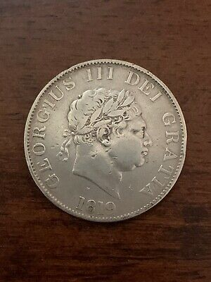 Great Britain 1819 George III Silver Half Crown KM# 672 Details