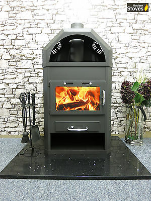 Stove with Back Boiler Wood Burning Multi fuel, 22kw Log Burner