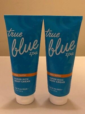 2 True Blue Spa Shea Butter Super Rich Body Cream Lay It On Thick 10 oz JULY