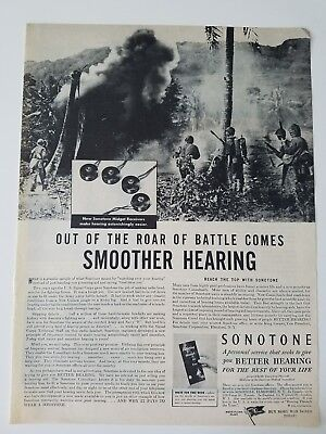 1944 Sonotone seeks to give you a better hearing aid vintage (Best Hearing Aid Ads)