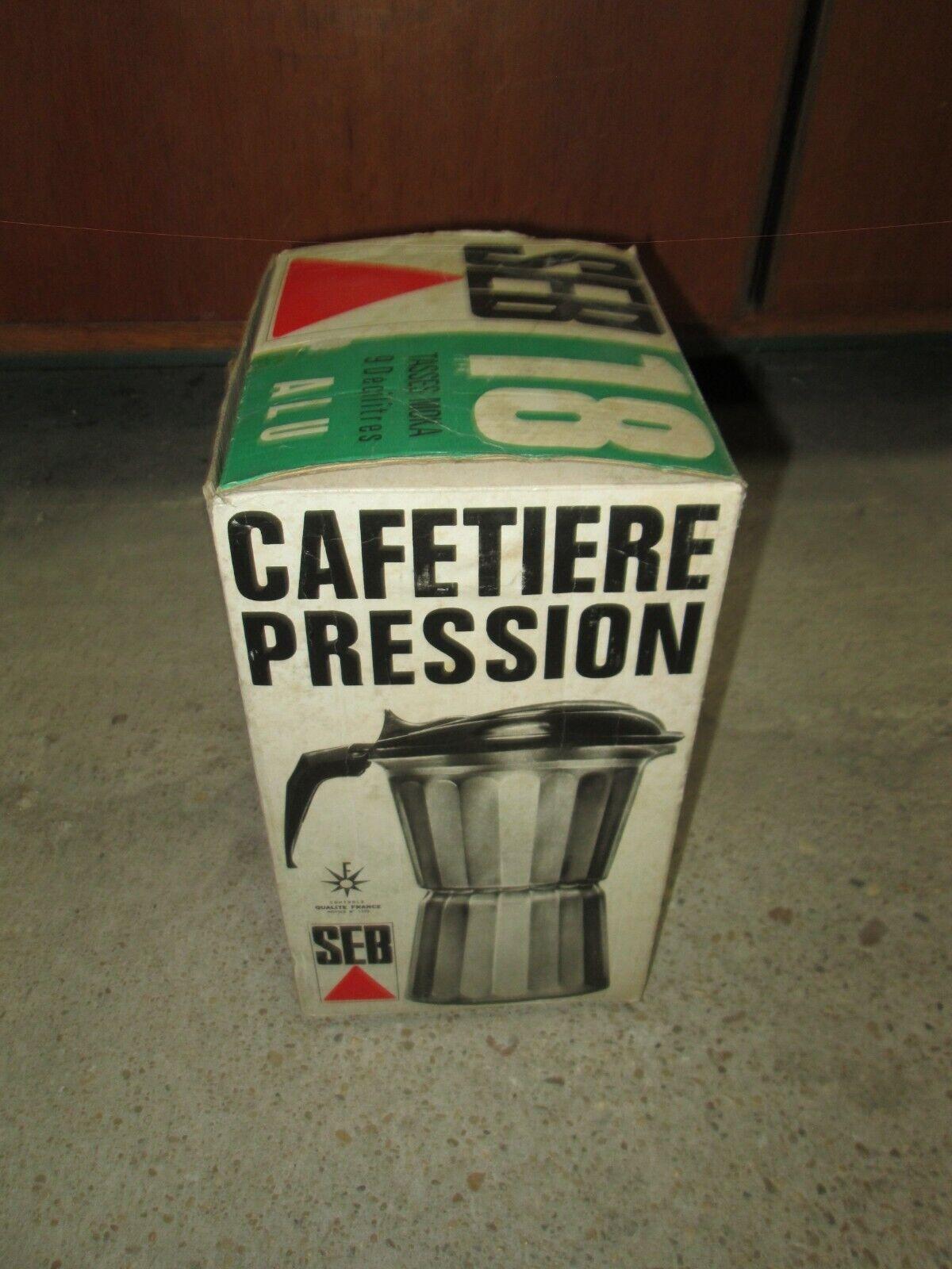 Cafetière pression en aluminium seb 18 tasses vintage