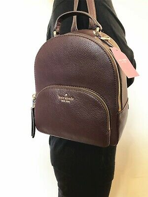 NWT KATE SPADE PEBBLED LEATHER JACKSON MEDIUM BACKPACK BAG CHCLTCHERY
