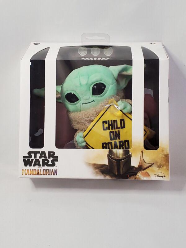New Star Wars Mandelorian Baby Yoda Grogu Child On Board Plush Car Window Sign