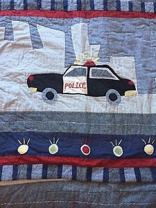 Boys Twin Quilt Set - Police and Fire Truck