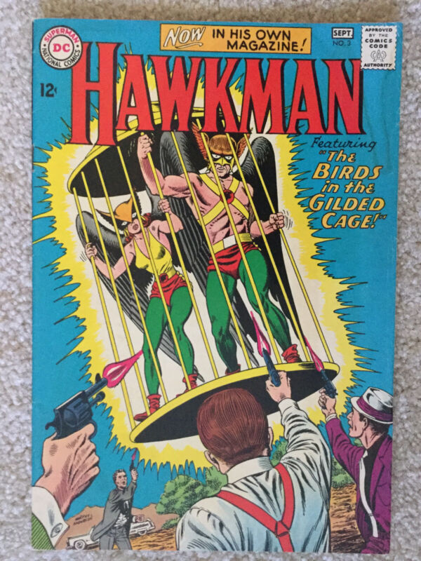 HAWKMAN, #3, THE BIRDS IN THE FILDED CAGE,  VF+  GRADE,