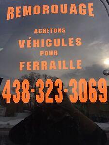 Achetons vehicule pour piece et ferraille 438 323 3069