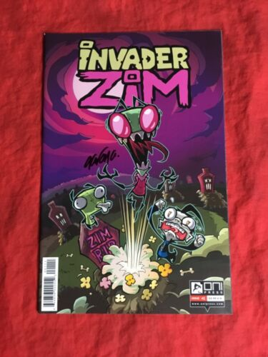 INVADER ZIM #1~1st PRINT~SIGNED BY AARON ALEXOVICH~ONI PRESS COMICS BOOK~OOP~