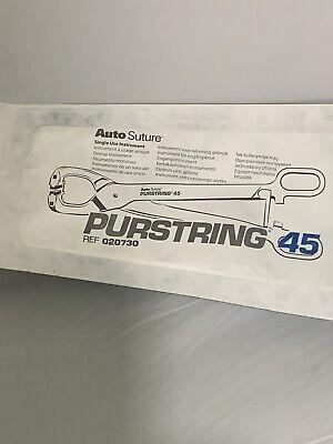 Covidien Purstring Auto Suture Purse String Device Ref 020730 X
