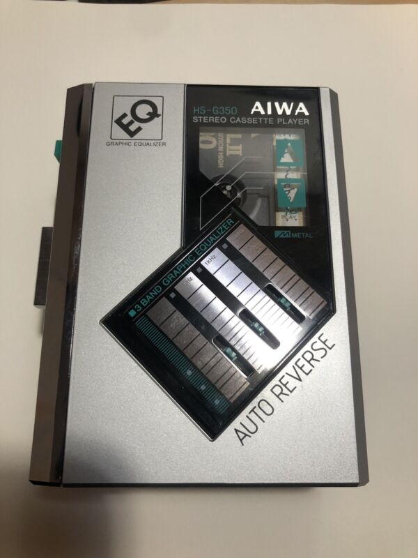 AIWA HS-G350 STEREO CASSETTE PLAYER EQ 3 BAND GRAPHIC EQUALIZER WALKMAN VTG