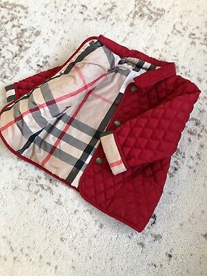 AUTHENTIC BURBERRY CLASSIC RED KIDS INFANT BABY BOY GIRL COAT JACKET 9M 6-12