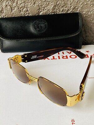 Vintage Gianni Versace Gold/Tortoiseshell Sunglasses Mod. S70 Col 31L Medusa 90s