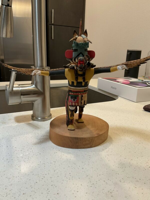 Vintage Hopi Kachina  Action Carving Eagle 9 Inches.
