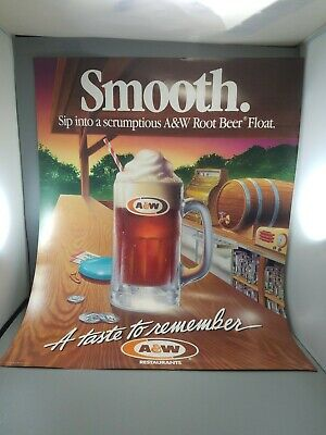 "A &W root beer collectibles store poster from 1988 new old stock 28""by 22"""