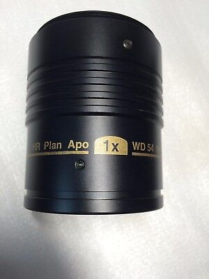 Nikon Hr Plan Apo 1x Wd54mm Microscope Objective Lens