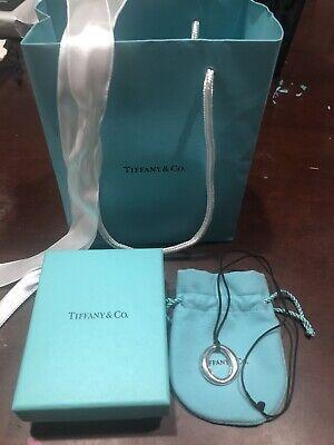 Tiffany & Co. Sterling Silver Elsa Peretti Sevillana O Pendant on Silk Cord