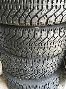 4 Goodyear Nordic tires on rims