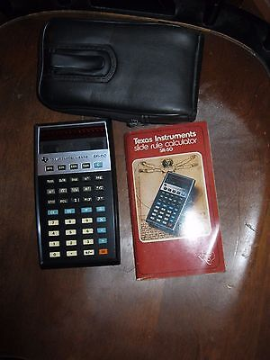 Vintage Texas Instruments TI SR-50 Slide-Rule Calculator manual   UNTESTED
