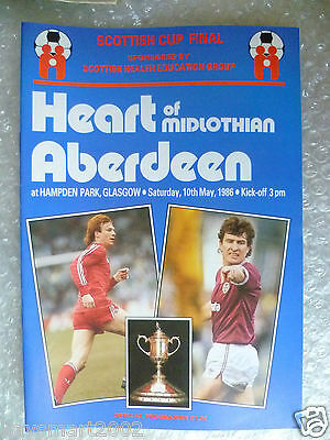 1986 Scottish Cup FINAL HEART OF MIDLOTHIAN v ABERDEEN, 10th May
