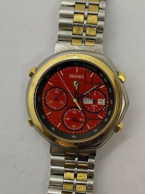 Cartier Ferrari Formula Quartz Analog Chronograph Watch - Red Dial - 41MM