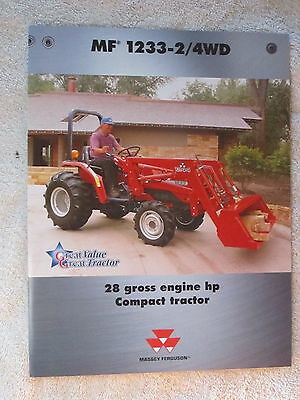 2000 Massey Ferguson 24wd 1233 Compact Tractor 4 Page Brochure