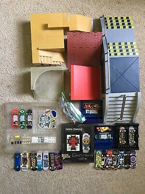 Lot Of Tech Deck Finger Skateboards & Ramps, Longboard, Wheels, Stickers, Tools