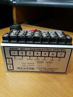 Banner Bec-1 Photoelectric Control 115 V