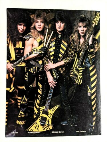 STRYPER / MICHAEL SWEET WHOLE BAND MAGAZINE FULL PAGE PINUP POSTER CLIPPING (12)