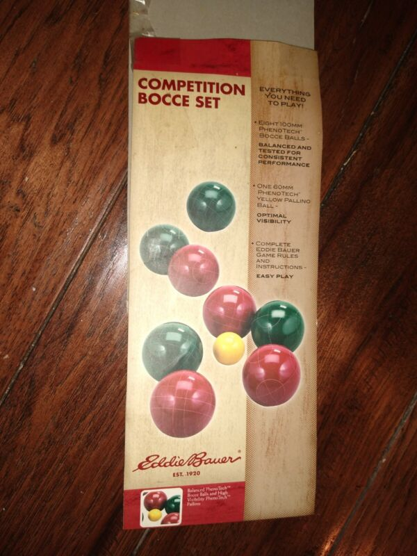 """Eddie Bauer """"Competition Bocce Ball Set"""" with  Bag / NEW OLD STOCK / Never used"""