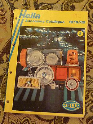 HELLA ACCESSORY CATALOGUE 1979 - 1980 (RALLY ESCORT CAPRI LIGHTS LAMPS)
