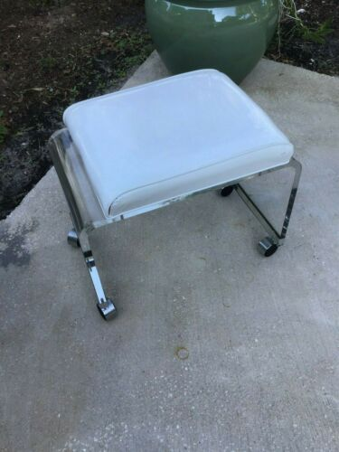 Vintage  Lucite Vanity Stool Bench