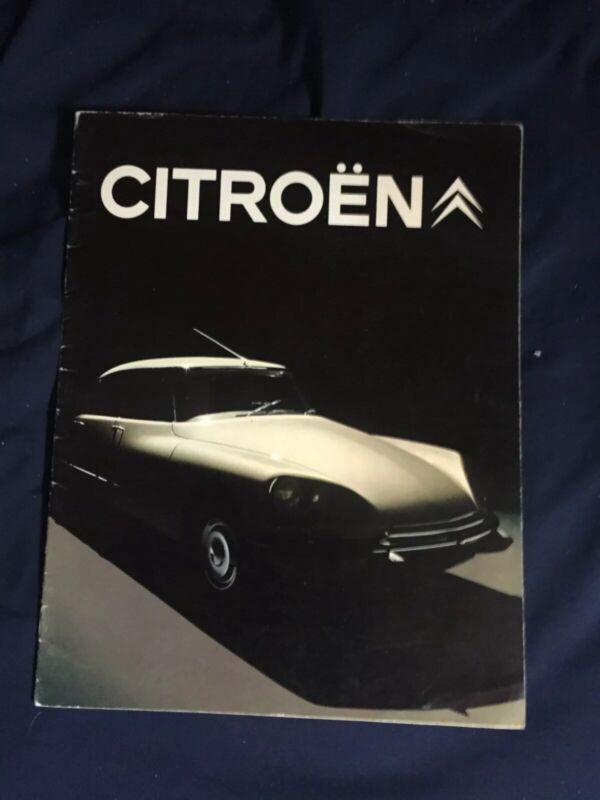 1972 Citroen DS Full Range Usa Market Color Brochure Catalog Prospekt