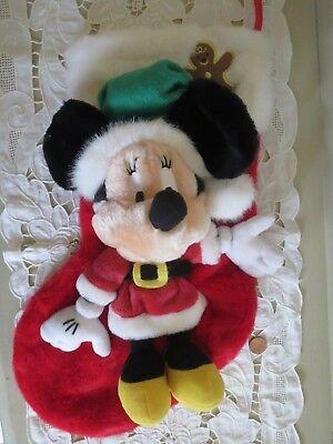 Vintage Minnie Mouse Christmas Stocking Plush Disney Store